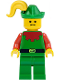 Minifig No: cas138  Name: Forestman - Red, Green Hat, Yellow Plume