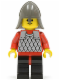 Minifig No: cas148  Name: Scale Mail - Red with Red Arms, Black Legs with Red Hips, Dark Gray Neck-Protector