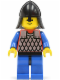 Minifig No: cas153  Name: Scale Mail - Red with Blue Arms, Blue Legs with Black Hips, Black Neck-Protector