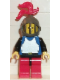 Minifig No: cas185  Name: Breastplate - Blue with Black Arms, Red Legs with Black Hips, Dark Gray Grille Helmet, Red Plume