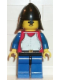 Minifig No: cas198  Name: Breastplate - Red with Blue Arms, Blue Legs with Black Hips, Black Neck-Protector