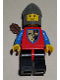 Minifig No: cas237a  Name: Crusader Axe - Black Legs with Red Hips, Dark Gray Chin-Guard, Quiver