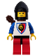 Minifig No: cas239  Name: Royal Knights - Knight 1, Black Chin-Guard, with Quiver