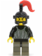 Minifig No: cas243  Name: Fright Knights - Knight 1, Black Dragon Helmet, Red Plume