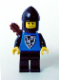 Minifig No: cas254  Name: Black Falcon - Black Legs, Black Chin-Guard, Shield Bottom Pointed, Quiver