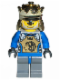 Minifig No: cas258a  Name: Knights Kingdom II - King Mathias with Blue Arms