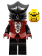 Minifig No: cas270  Name: Knights Kingdom II - Shadow Knight Vladek, Dark Red Armor