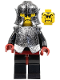 Minifig No: cas271  Name: Knights Kingdom II - Shadow Knight, Speckle Black-Silver Armor and Helmet