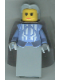 Minifig No: cas275  Name: Knights Kingdom II - Queen with Light Bluish Gray Hair, Light Bluish Gray Cape (Chess Queen)