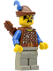 Minifig No: cas286  Name: Dark Forest - Forestman 2 with Quiver