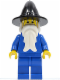 Minifig No: cas306  Name: Wizard - Black Wizard / Witch Hat