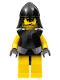 Minifig No: cas310  Name: Knights Kingdom II - Rogue Knight 3 (Yellow Legs, Black Breastplate, Black Neck-Protector)