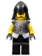 Minifig No: cas312  Name: Knights Kingdom II - Rogue Knight 5 (Black Legs, Speckle Breastplate, Black Neck-Protector)