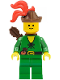 Minifig No: cas320  Name: Forestman - Pouch, Brown Hat, Red 3-Feather Plume, Quiver