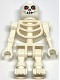 Minifig No: cas328  Name: Fantasy Era - Skeleton Warrior 2, White