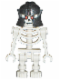 Minifig No: cas329  Name: Fantasy Era - Skeleton Warrior 3, White, Speckled Helmet