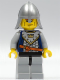 Minifig No: cas339  Name: Fantasy Era - Crown Knight Scale Mail with Crown, Helmet with Neck Protector, Vertical Cheek Lines