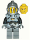 Minifig No: cas340  Name: Fantasy Era - Crown Knight Plain with Breastplate, Grille Helmet, Vertical Cheek Lines
