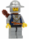 Minifig No: cas347  Name: Fantasy Era - Crown Knight Scale Mail with Crown, Helmet with Broad Brim, Vertical Cheek Lines, Quiver