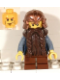 Minifig No: cas355  Name: Fantasy Era - Dwarf, Dark Brown Beard, Copper Helmet with Studded Bands, Sand Blue Arms, Vertical Cheek Lines