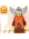 Minifig No: cas357  Name: Fantasy Era - Dwarf, Dark Orange Beard, Metallic Silver Helmet with Wings, Dark Red Arms