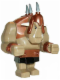 Minifig No: cas358  Name: Big Figure - Fantasy Era - Troll, Dark Tan with Copper Armor