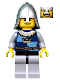 Minifig No: cas371  Name: Fantasy Era - Crown Knight Quarters, Helmet with Neck Protector, Dual Sided Head
