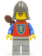 Minifig No: cas372  Name: Crusader Lion - Light Gray Legs, Dark Gray Neck-Protector, Quiver