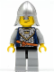 Minifig No: cas382  Name: Fantasy Era - Crown Knight Scale Mail with Crown, Helmet with Neck Protector, Crooked Smile