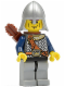 Minifig No: cas386  Name: Fantasy Era - Crown Knight Scale Mail with Chest Strap, Helmet with Neck Protector, Vertical Cheek Lines