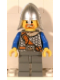Minifig No: cas407  Name: Fantasy Era - Crown Knight Scale Mail with Chest Strap, Helmet with Neck Protector, Beard around Mouth