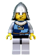 Minifig No: cas408  Name: Fantasy Era - Crown Knight Quarters, Helmet with Neck Protector, Vertical Cheek Lines