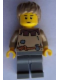 Minifig No: cas410a  Name: Fantasy Era - Peasant Male Young, Black Eyebrows, Thin Grin