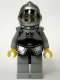Minifig No: cas419  Name: Fantasy Era - Crown Knight Scale Mail with Crown, Breastplate, Grille Helmet, Curly Eyebrows and Goatee