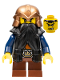 Minifig No: cas433  Name: Fantasy Era - Dwarf, Black Beard, Copper Helmet with Studded Bands, Dark Blue Arms