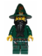 Minifig No: cas435  Name: Kingdoms - Dark Green Wizard
