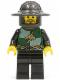 Minifig No: cas456  Name: Kingdoms - Dragon Knight Quarters, Helmet with Broad Brim, Moustache and Stubble
