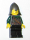 Minifig No: cas458  Name: Kingdoms - Dragon Knight Scale Mail with Chain and Belt, Helmet with Neck Protector, Scowl