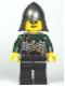 Minifig No: cas463  Name: Kingdoms - Dragon Knight Scale Mail with Chain and Belt, Helmet with Neck Protector, Open Grin