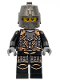 Minifig No: cas468  Name: Kingdoms - Dragon Knight Scale Mail with Chains, Helmet Closed, Gray Beard