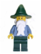 Minifig No: cas483  Name: Wizard - Sand Blue with Dark Green Legs and Hat