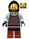 Minifig No: cas492  Name: Kingdoms - Blacksmith with Dark Brown Apron