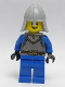 Minifig No: cas540  Name: Castle - King's Knight Scale Mail, Crown Belt,  Helmet with Neck Protector, Open Grin