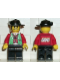 Minifig No: cc4065  Name: Male Actor, Red Shirt, Black Wide Brim Hat