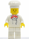 Minifig No: chef001  Name: Chef - White Legs, Standard Grin