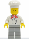Minifig No: chef004  Name: Chef - Light Gray Legs, Standard Grin