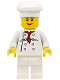 Minifig No: chef020  Name: Chef - White Torso with 8 Buttons, White Legs, Female