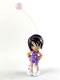 Minifig No: clik01  Name: Clikits Figure Star -  Black Hair Streaked with Purple, Purple Dress with Sash, White Boots