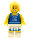 Minifig No: col002  Name: Cheerleader, Series 1 (Minifigure Only without Stand and Accessories)