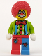 Minifig No: col004  Name: Circus Clown, Series 1 (Minifigure Only without Stand and Accessories)